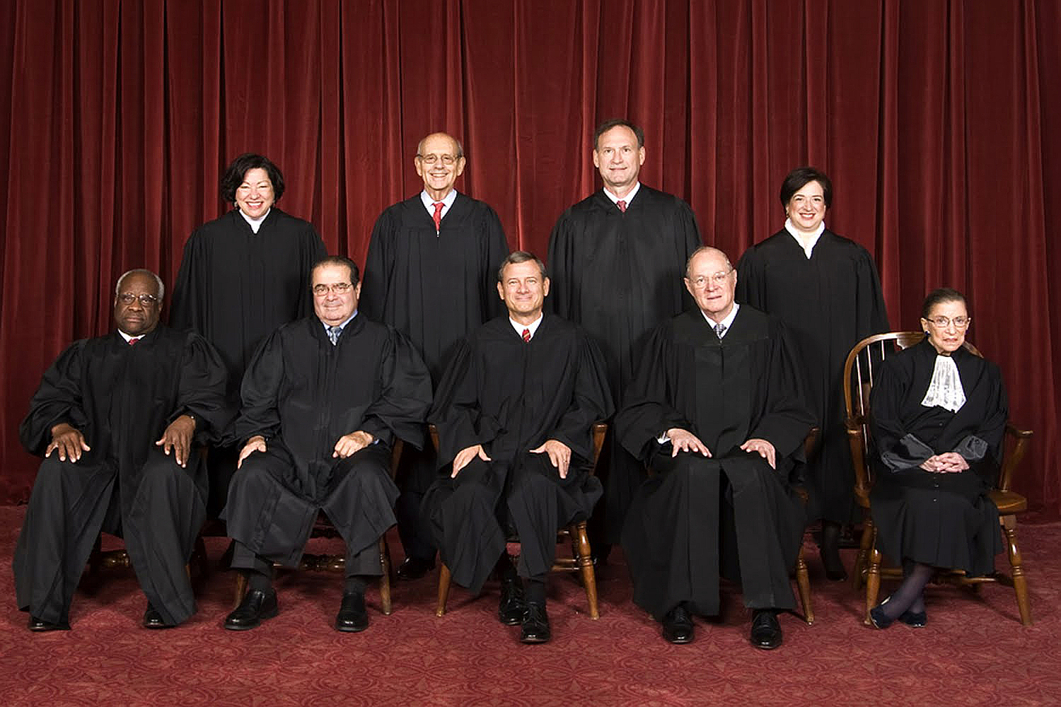 The Justices of the Supreme Court of the United States of America (Scalia has since passed away)